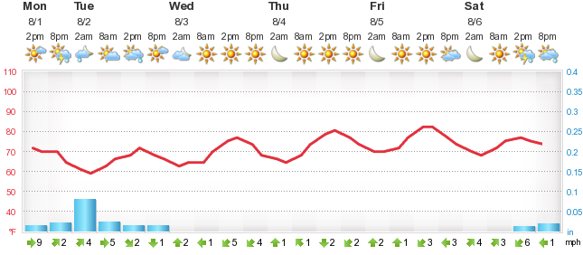 Detailed 5 day forecast